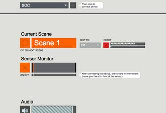 "Max/MSP patch in ""Presentation Mode"""